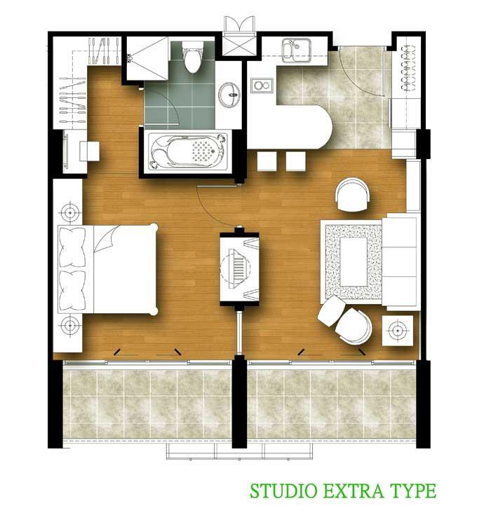 Tira Tiraa 1 Bedroom Extra Floor Plan
