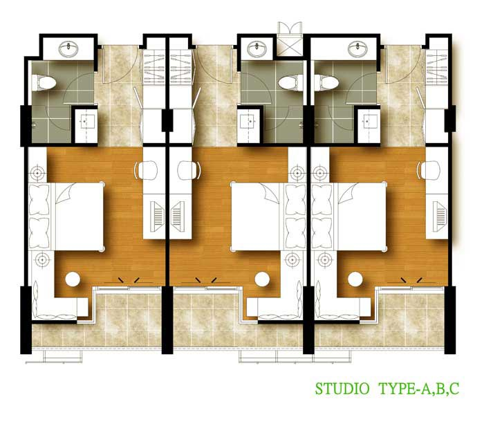Studio type floor plan for Type of floors in houses